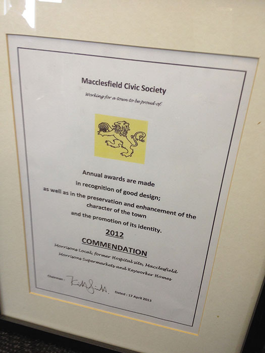 Macclesfield Civic Society Award