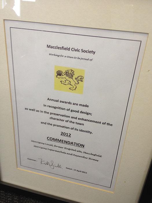 Macclesfield Civic Society Award