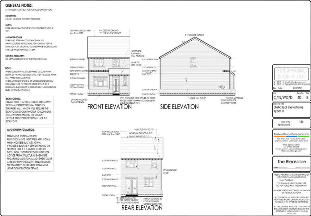 Working / Construction Drawings - Baldwin Design Consultancy Ltd