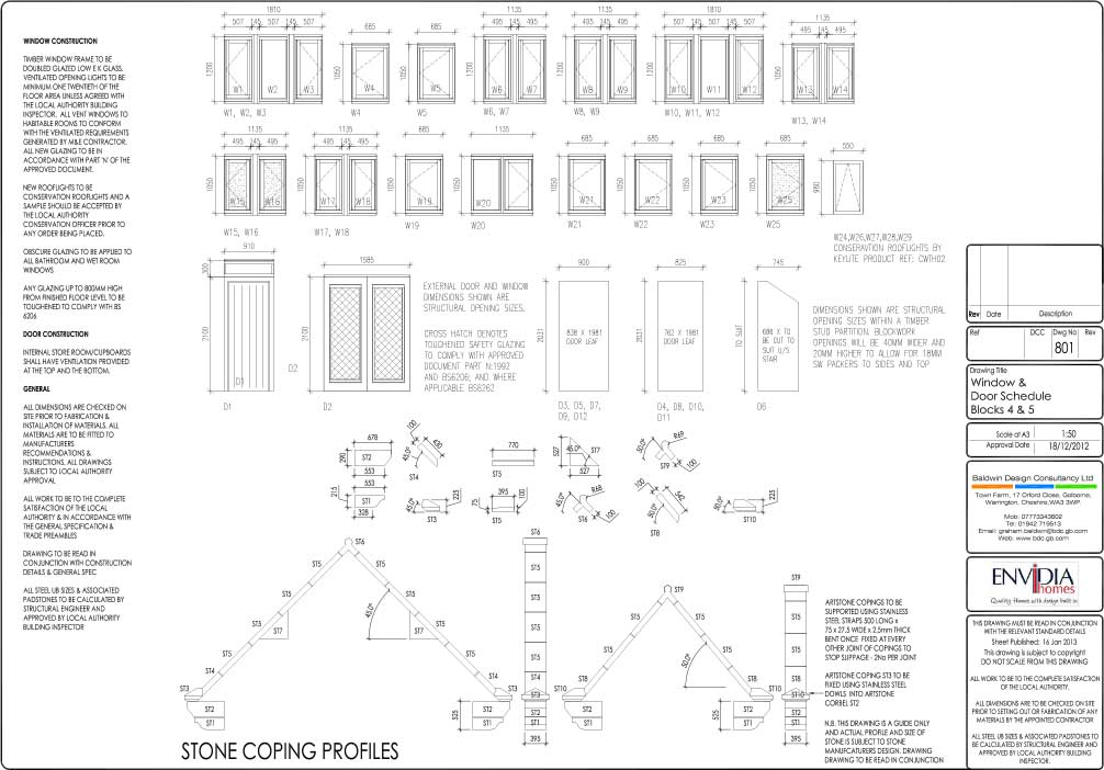 Construction drawings examples